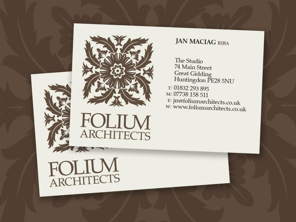 Stationery design and production for Folium Architects