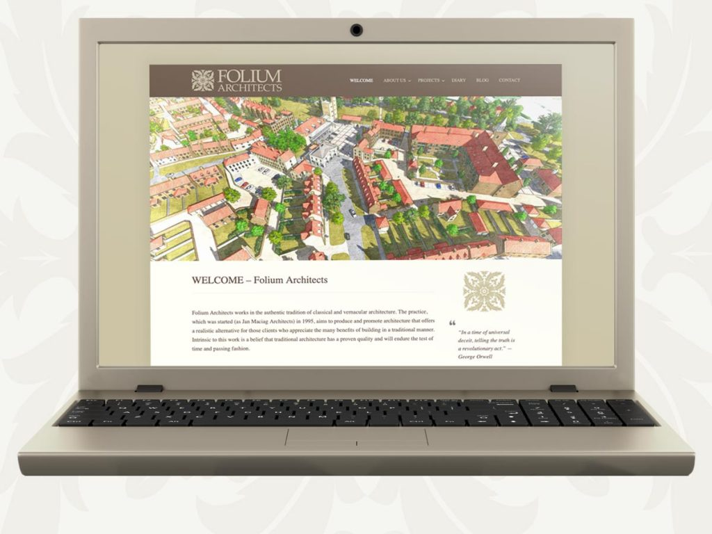 Website design and construction for traditional architectural practice