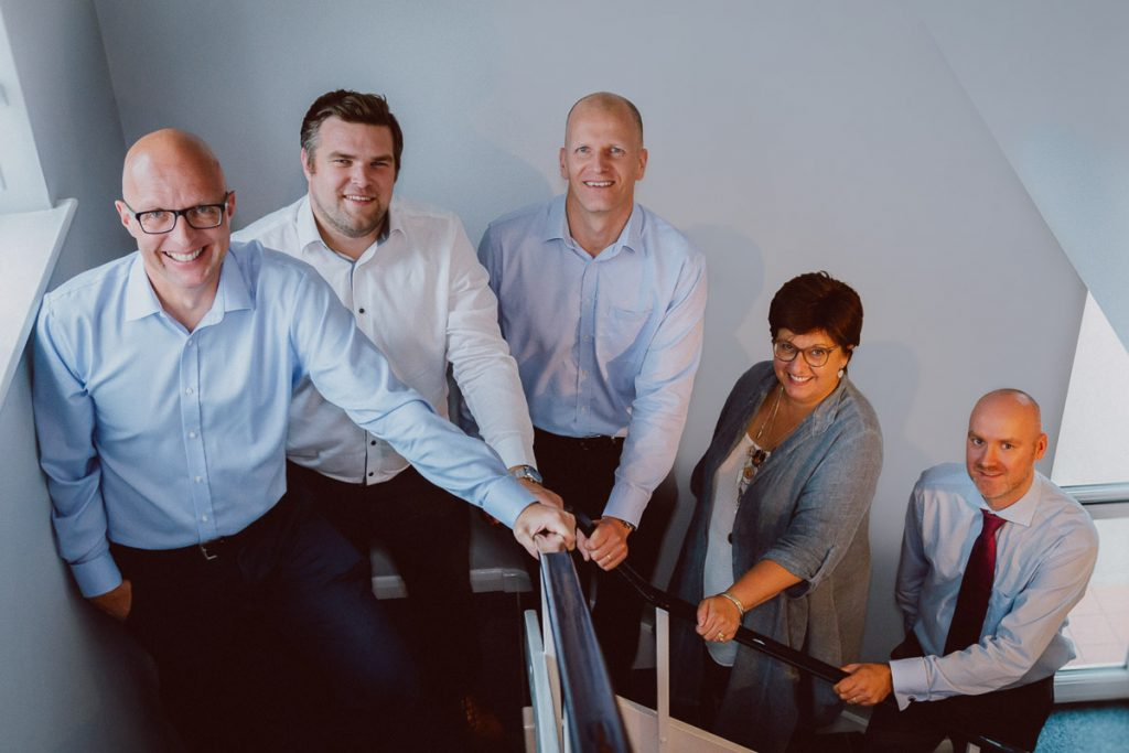 Group staff portrait photography for engineering firm