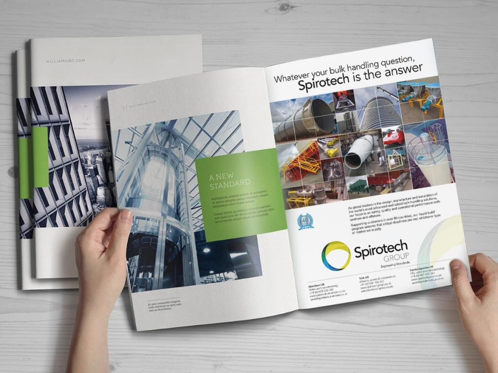 Advertisement design and production for engineering company