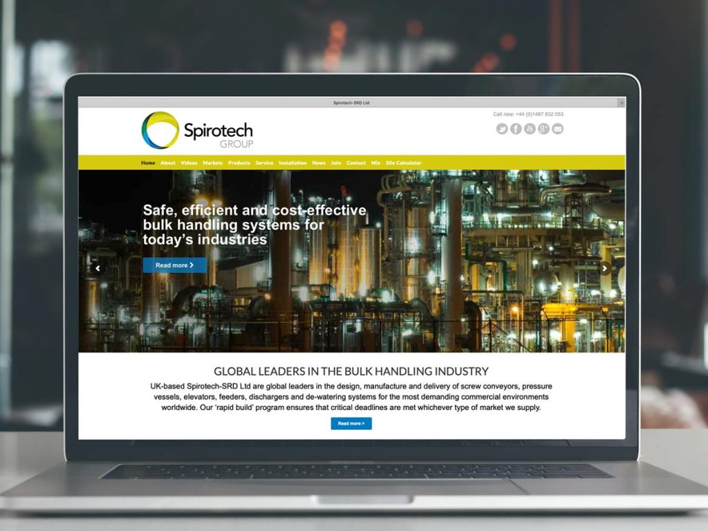 Website design and production for Spirotech Group