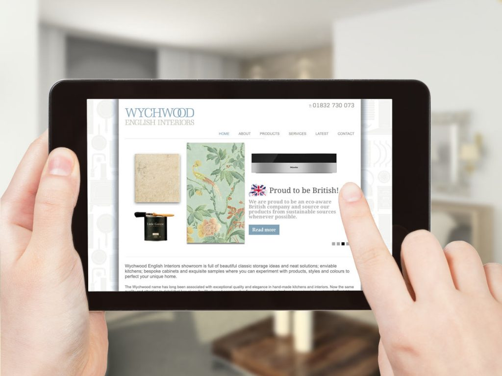 professional logo design and website design for Wychwood English Interiors