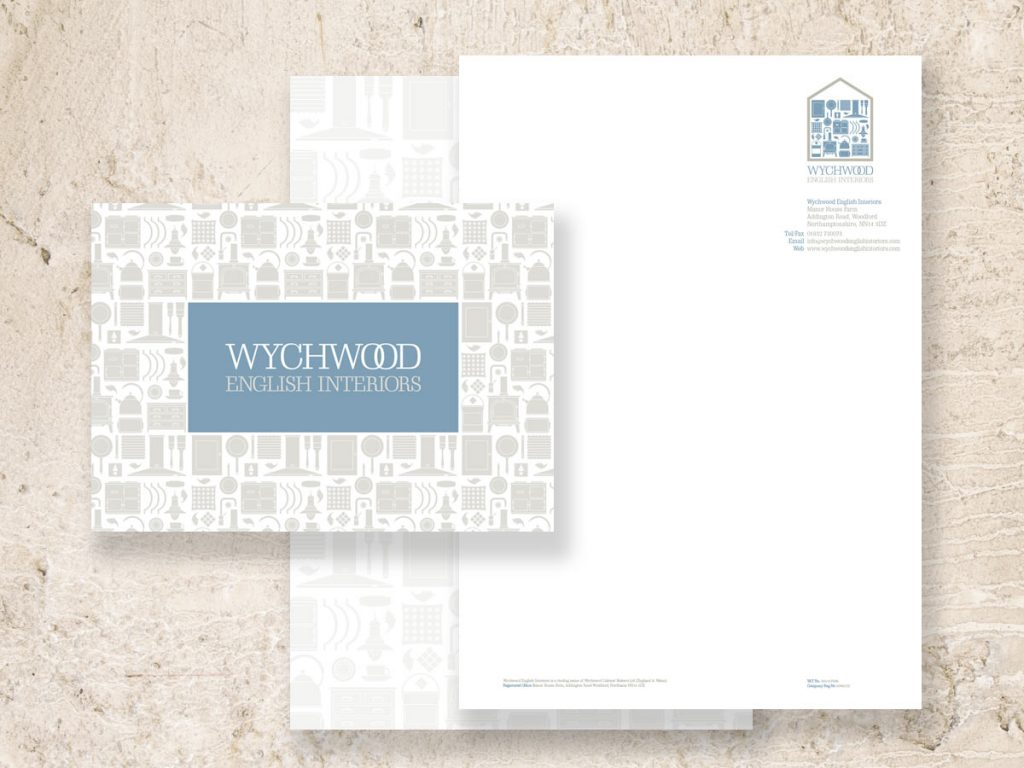 Stationery design and production for Wychwood English Interiors