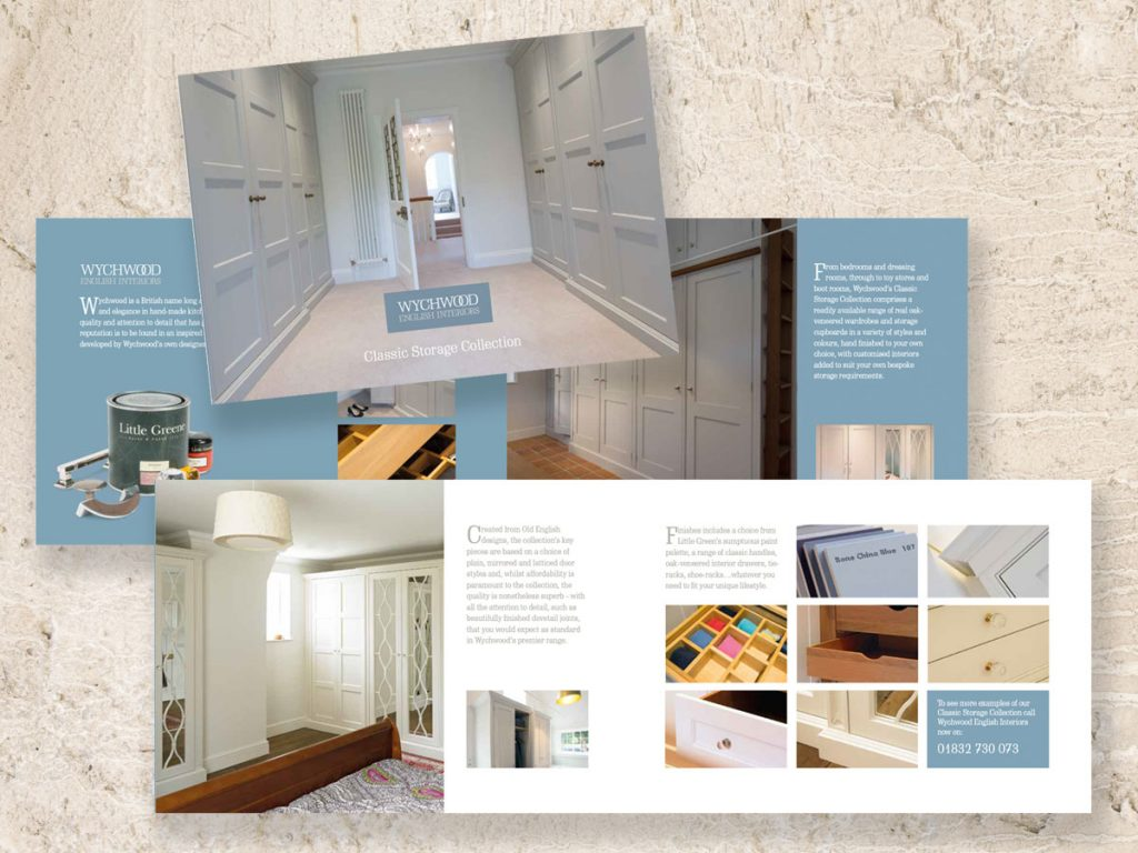 Brochure design and production for Wychwood English Interiors