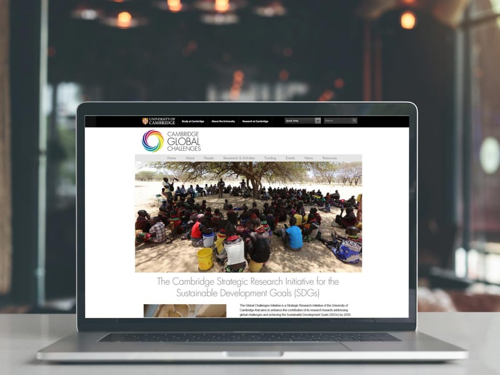 Website proposal for Cambridge Global Challenges project