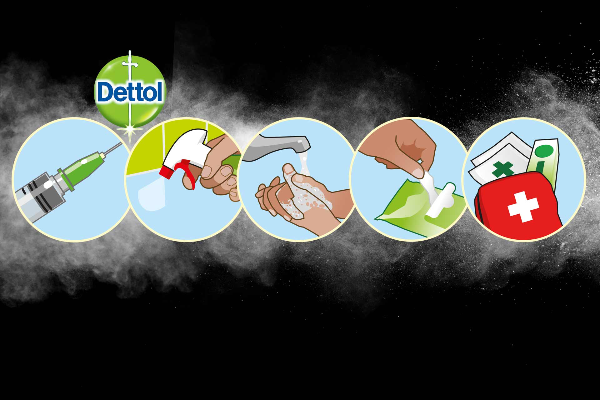 Illustrations for Dettol brand
