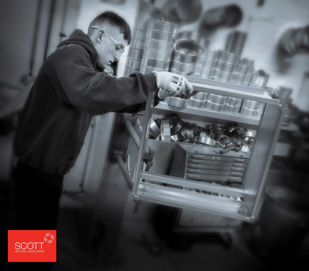 Photography of workman for Scott Heating and Ventilation